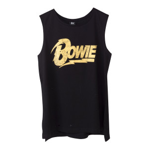 Bowie Gold Text Tank Top