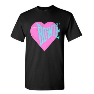 Love Bowie Pink Heart T-shirt