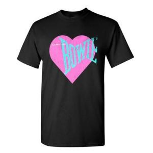 Love Bowie Pink Heart T-shirt