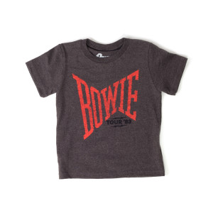 David Bowie Tour '83 Grey Kids T-Shirt