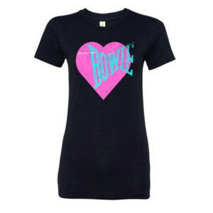 Women's Love Bowie Pink Heart T-shirt