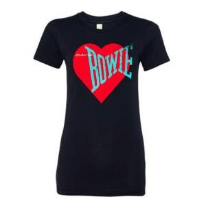 Women's Love Bowie Red Heart T-shirt