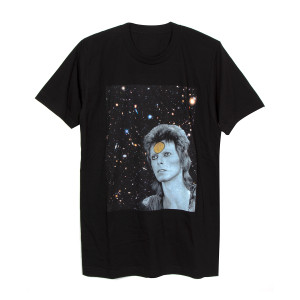 Ziggy Stardust Black Photo T-Shirt