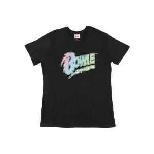 Rainbow Sparkle Bowie Logo T-Shirt