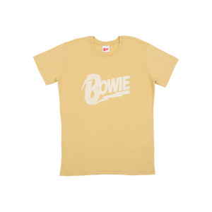 Bowie Beige T-shirt with Thunderbolt Logo