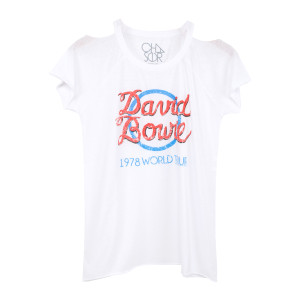 Bowie Blue Circle White T-Shirt
