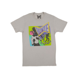 Bowie Neon Shortsleeve Silver T-shirt
