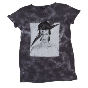 David Bowie Aladdin Sane Grey Ladies Tee