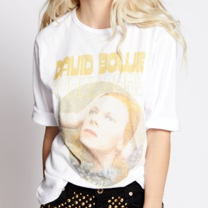 David Bowie Hunky Dory Rolled Sleeve T-shirt
