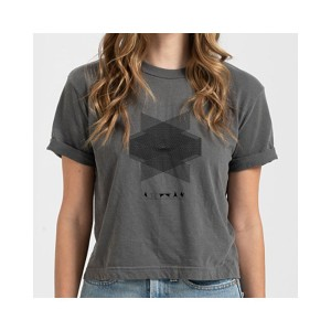 Crossed Signals Retro Crop Top