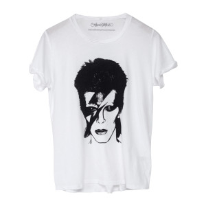 David Bowie Bowie Aladdin Sane Image White Short Sleeve T-Shirt