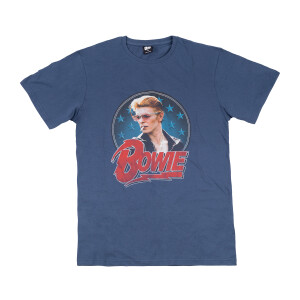 David Bowie Diamond Dogs Blue T-Shirt