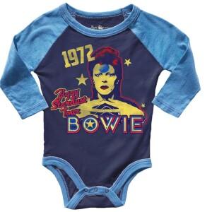 David Bowie 1972 Ziggy Stardust Tour Raglan Onesie