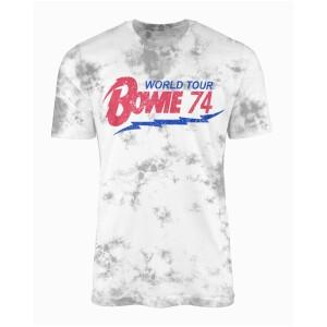 David Bowie World Tour '74 Tie Dye T-shirt
