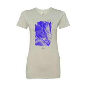 Women's Blue Jean Zipper T-Shirt