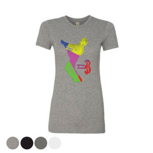 Women's Glass Spider Color Block T-Shirt