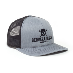 Heather Grey & Black Logo Trucker
