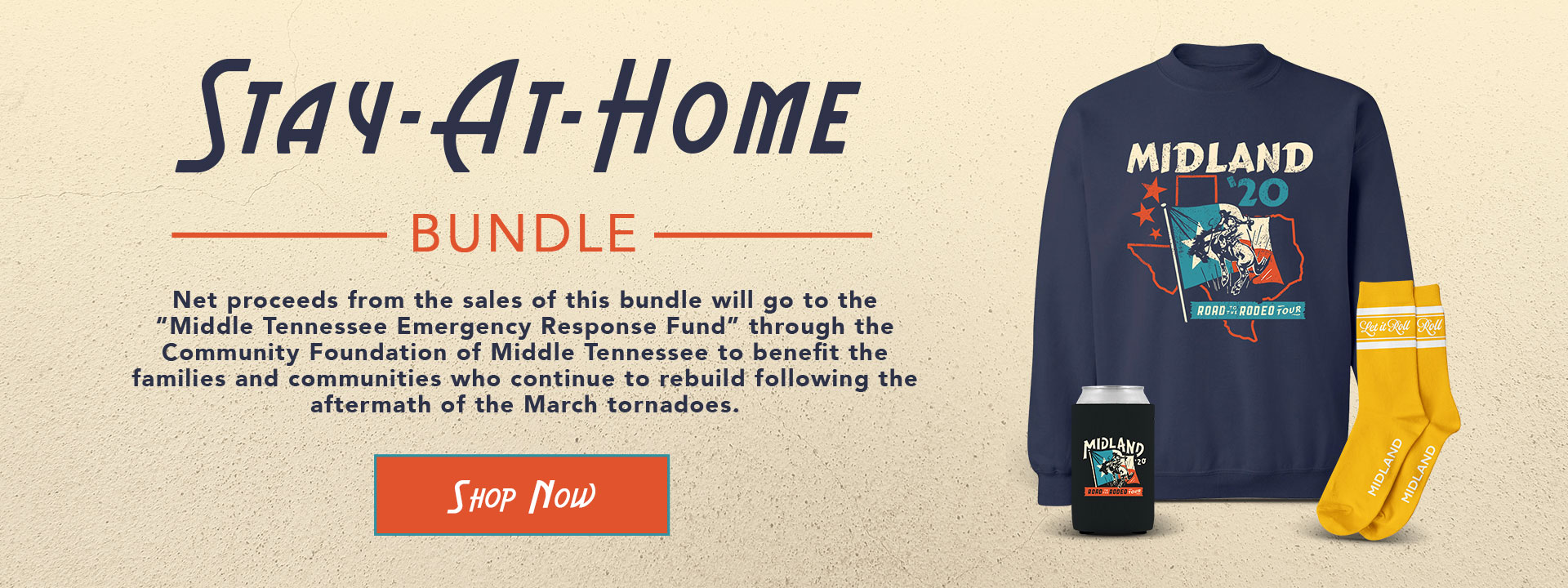 "Stay at Home Bundle | Net proceeds from the sales of this bundle will go to the ""Middle Tennessee Emergency Response Fund"" through the Community Foundation of Middle Tennessee to benefit the families and communities who contribute to rebuild following the aftermath of the March tornadoes. 
