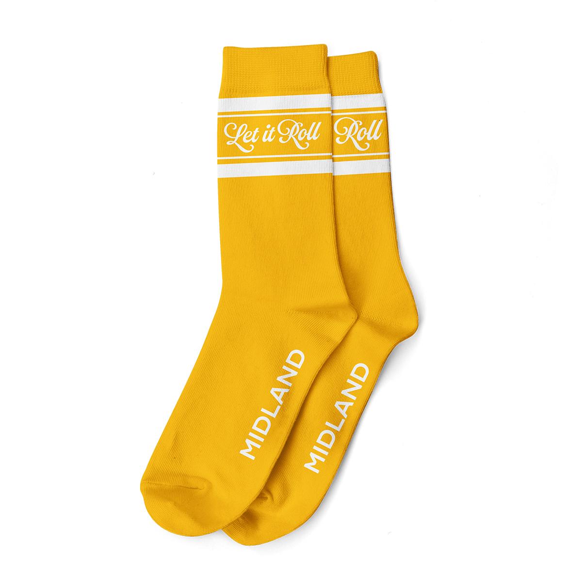 Let It Roll Gold Socks