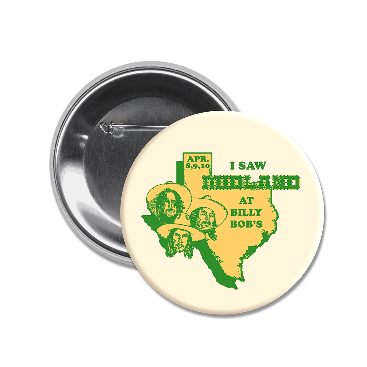 I Saw Midland at Billy Bob's Cream Button