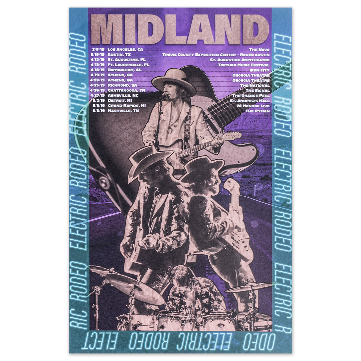 Electric Rodeo Tour Lithograph