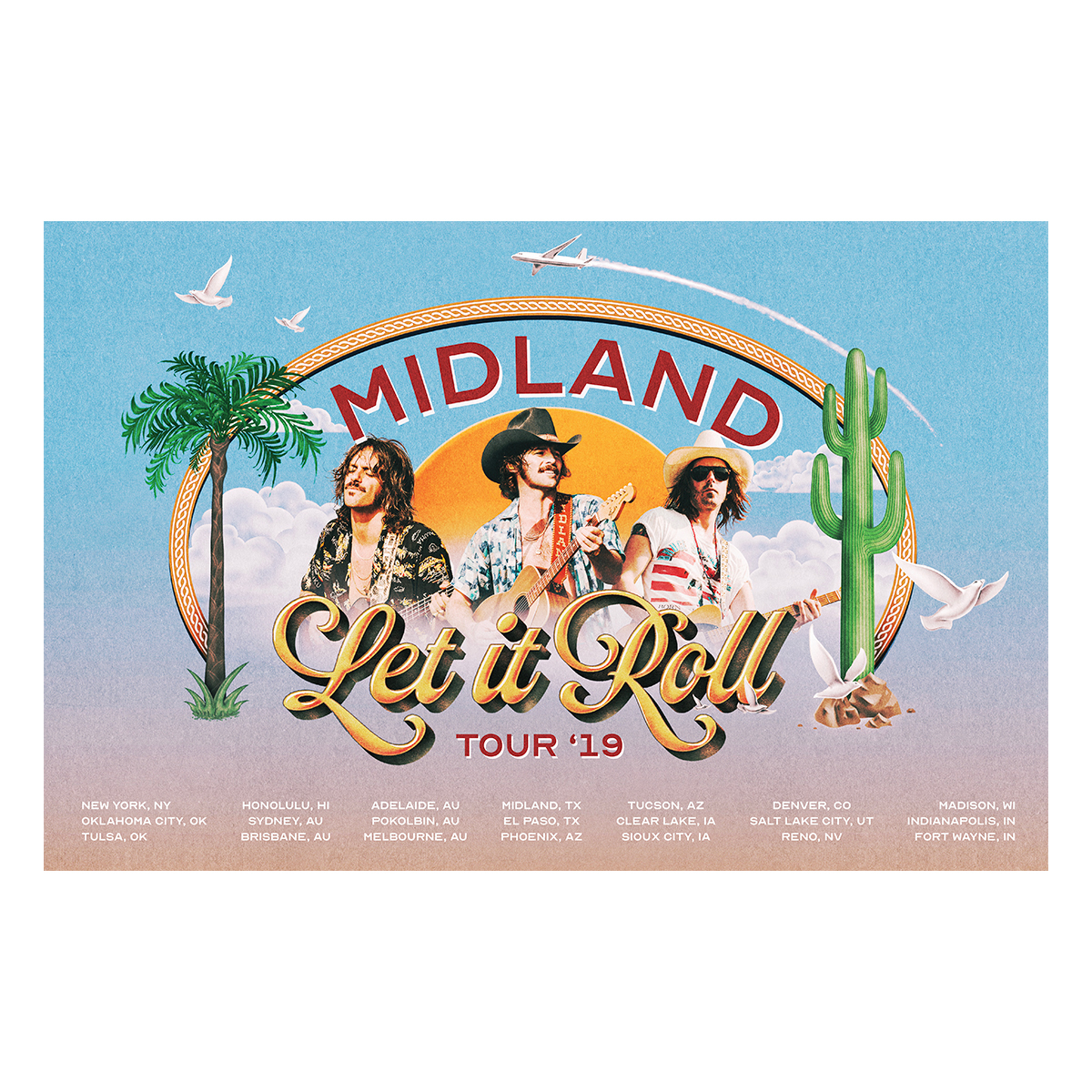 Let It Roll 2019 Tour Lithograph