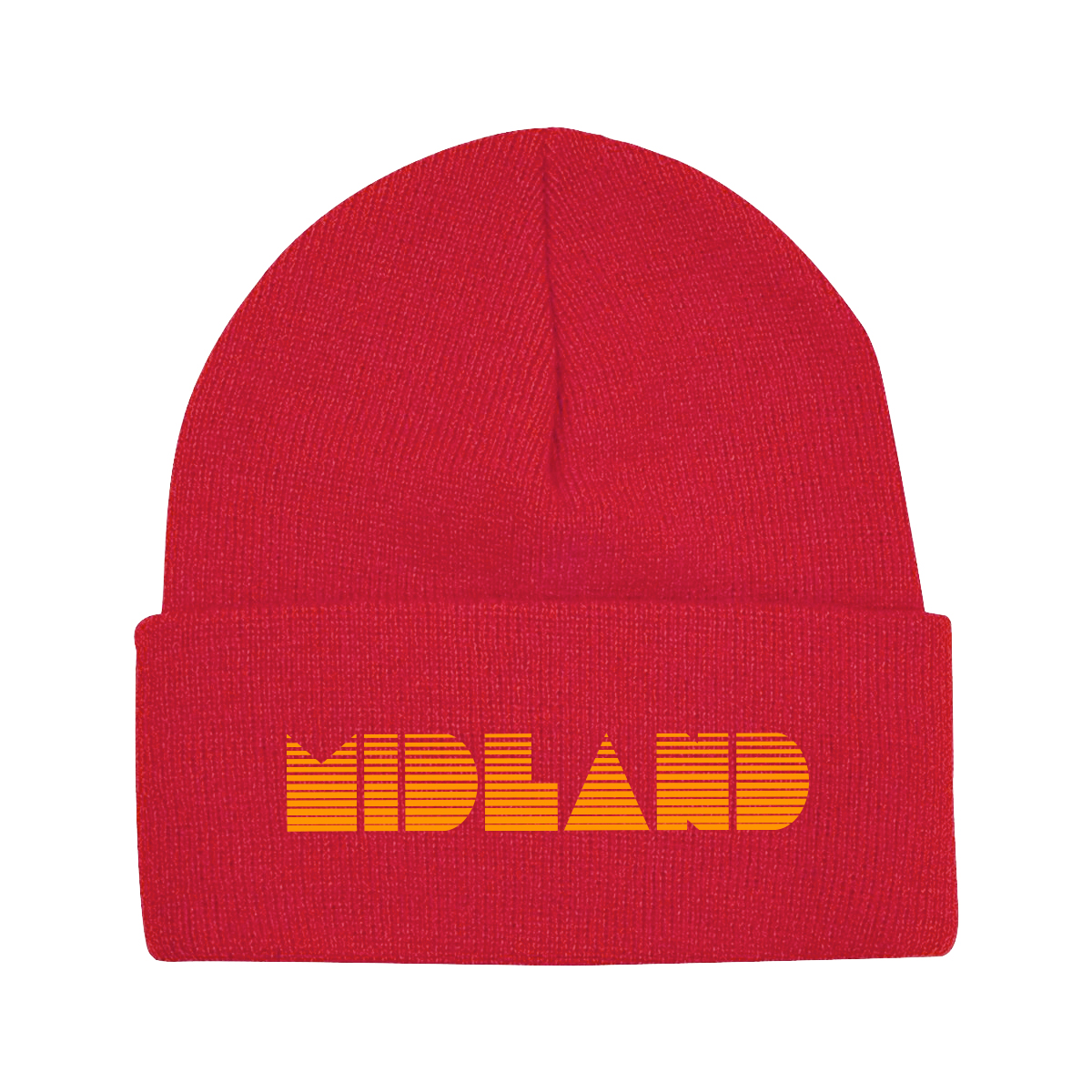 Red Midland Beanie