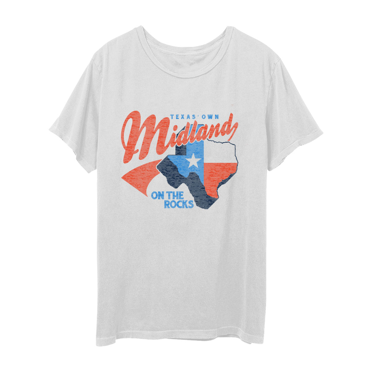 Midland Texas On the Rocks White T-Shirt