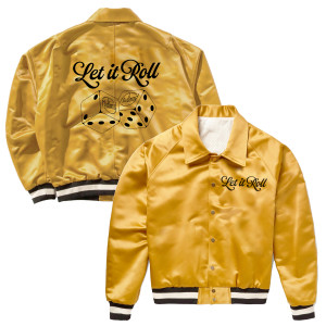 Let it Roll Gold Dice Bomber Jacket
