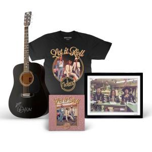 Let it Roll Album, Signed Guitar, Signed Lithograph, & T-Shirt Bundle
