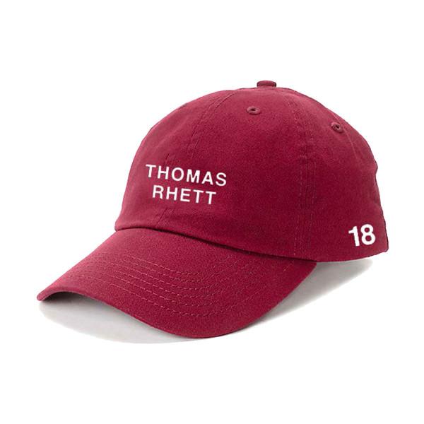 Thomas Rhett  18 Burgundy Dad Hat  1c42331ff