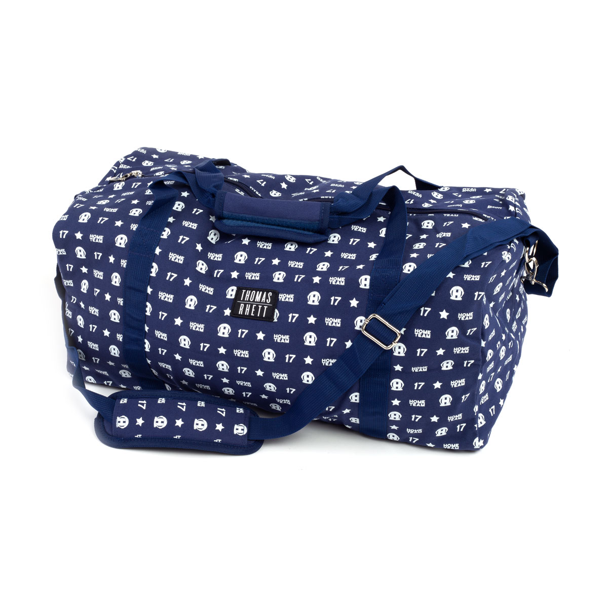 Allover Navy Duffle Bag