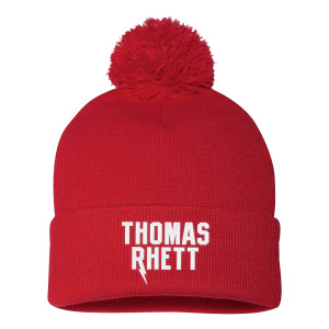 Thomas Rhett Logo Red Pom Beanie