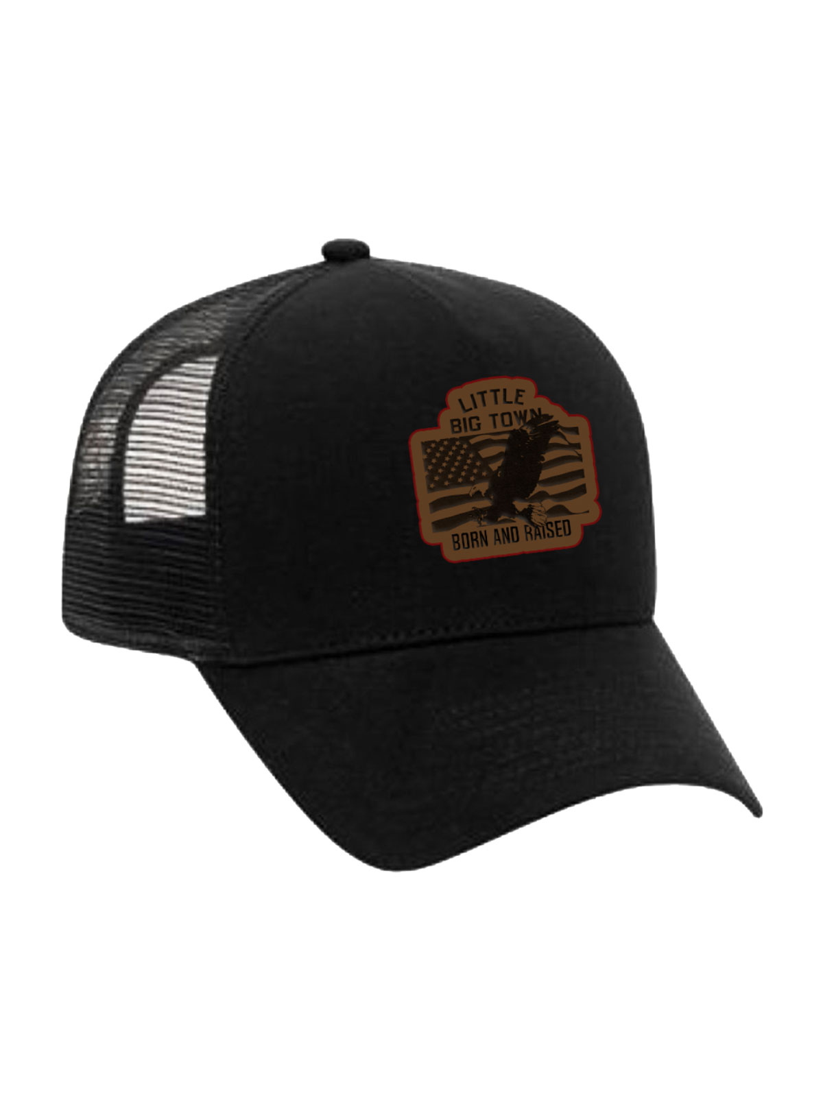 Born and Raised Black Trucker Hat
