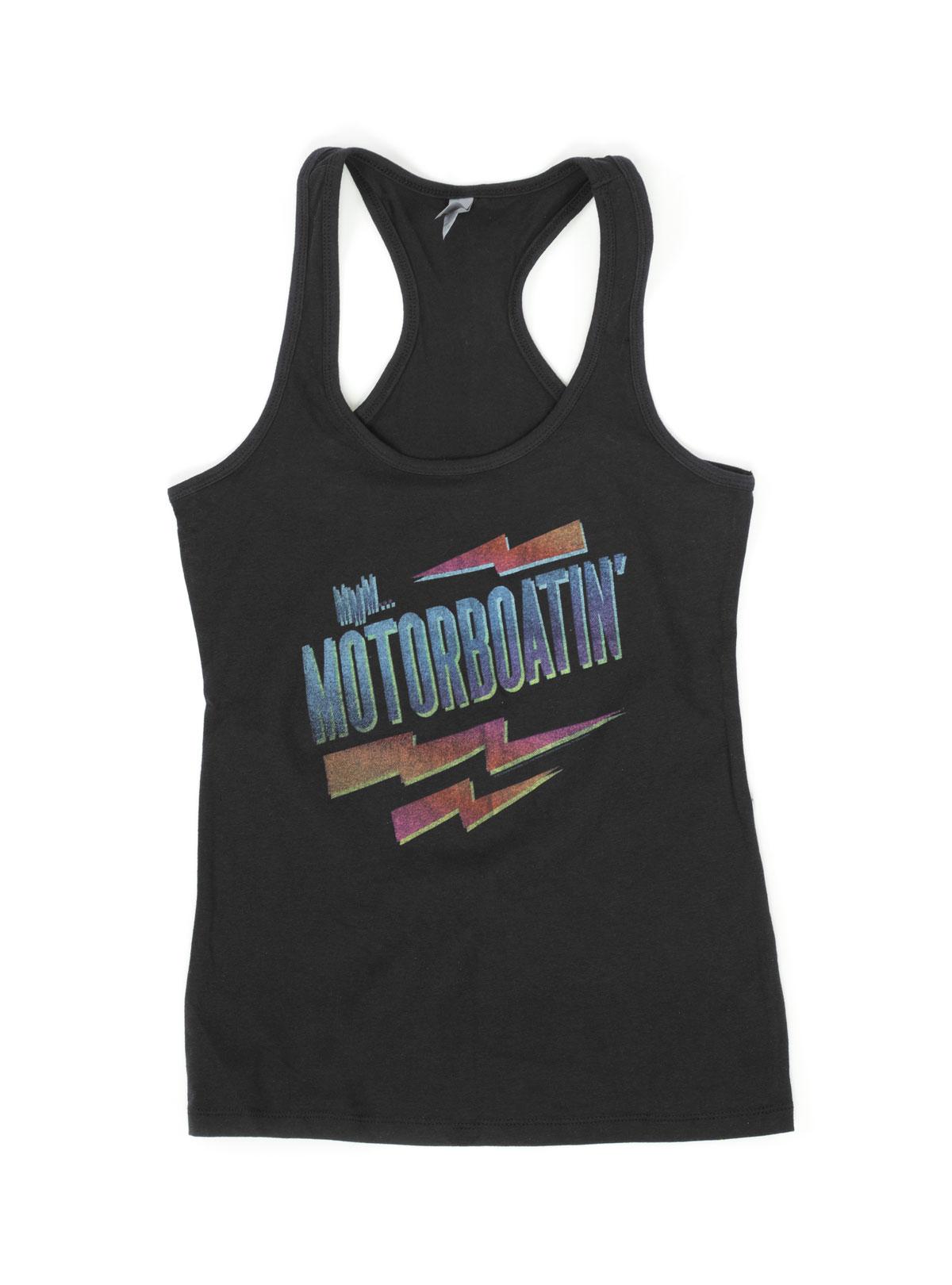Motorboatin Black Tank Top