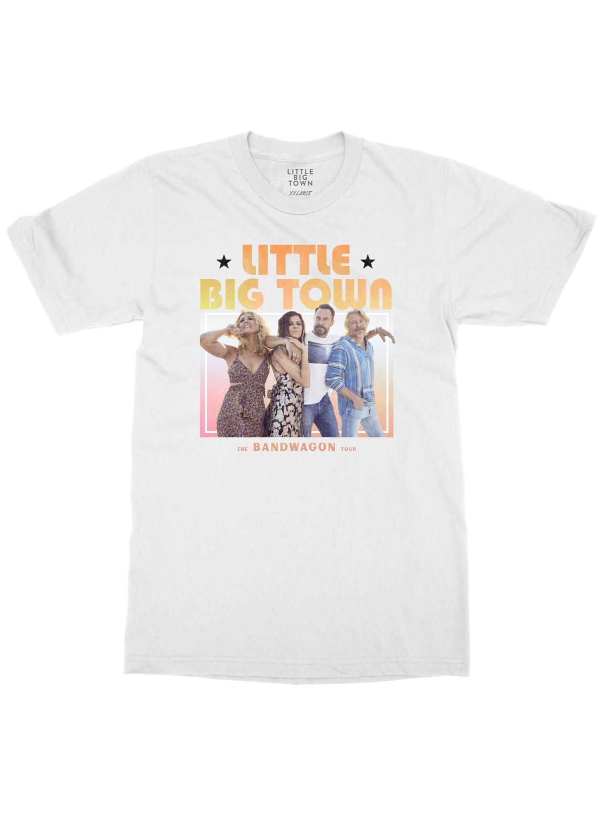 Bandwagon Tour White Dateback T-shirt