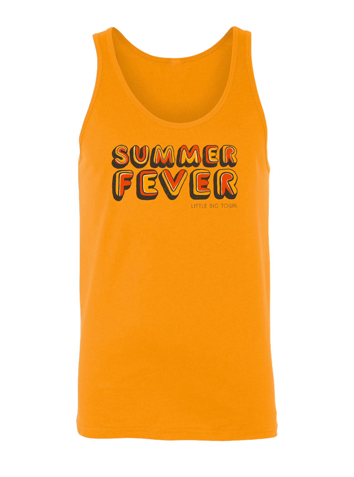 Summer Fever Orange Tank Top