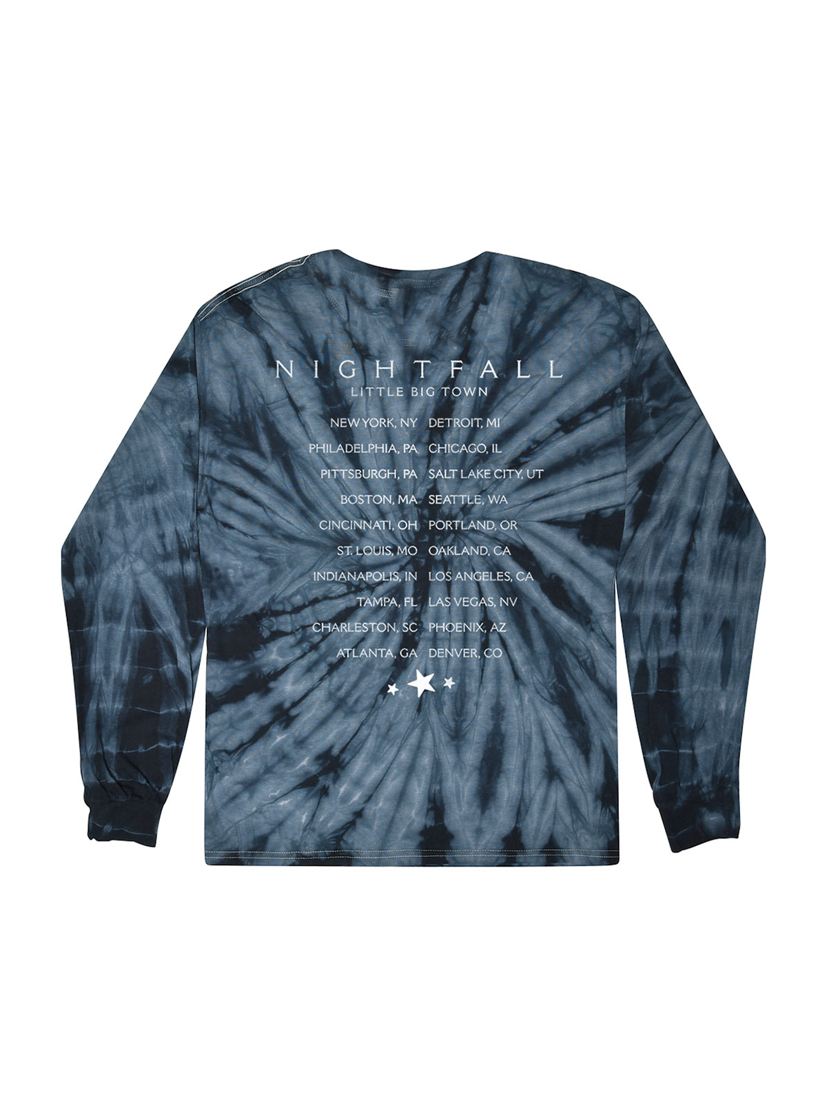 Nightfall Tie-Dye Dateback Longsleeve T-shirt