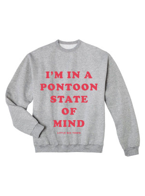 Pontoon State of Mind Grey Crewneck Sweatshirt