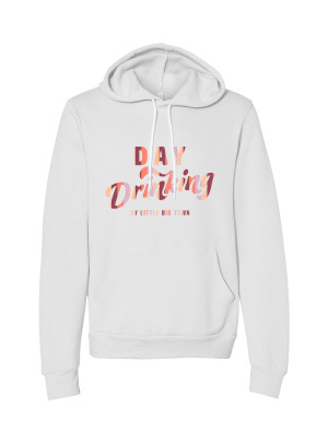 Day Drinking White Hoodie