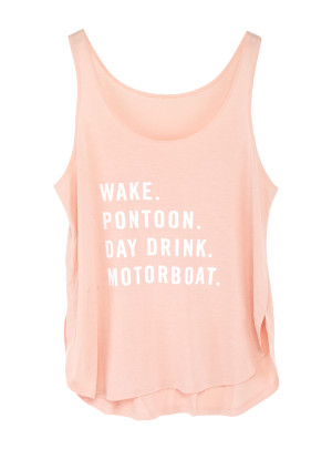 Pontoon Pink Tank Top