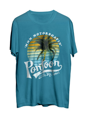 Pontoon Palm Teal T-Shirt