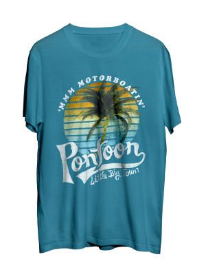 Pontoon Palm Teal T-Shirt
