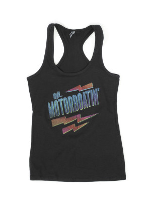 Motorboatin Black Tank Top
