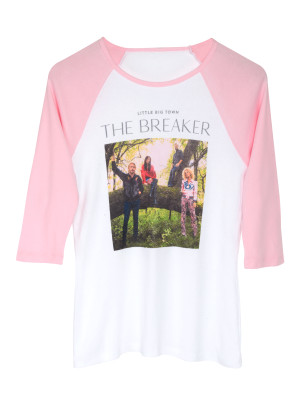 Breakers Tour Pink Raglan