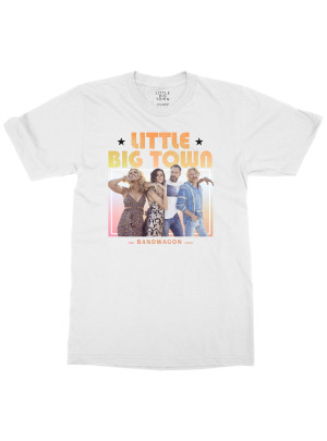 Bandwagon Tour White Dateback T-shirt