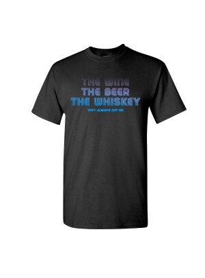 Wine, Beer, Whisky T-Shirt