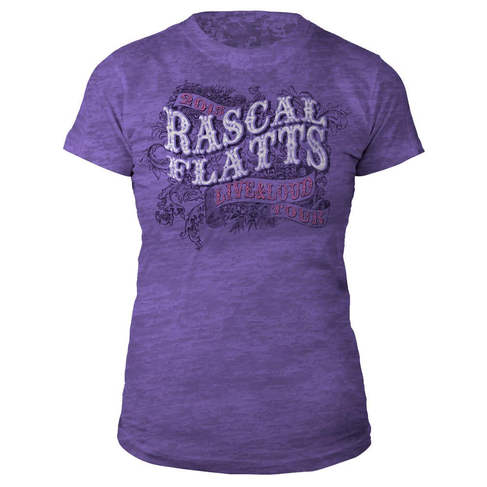 Live & Loud Purple Juniors T-Shirt