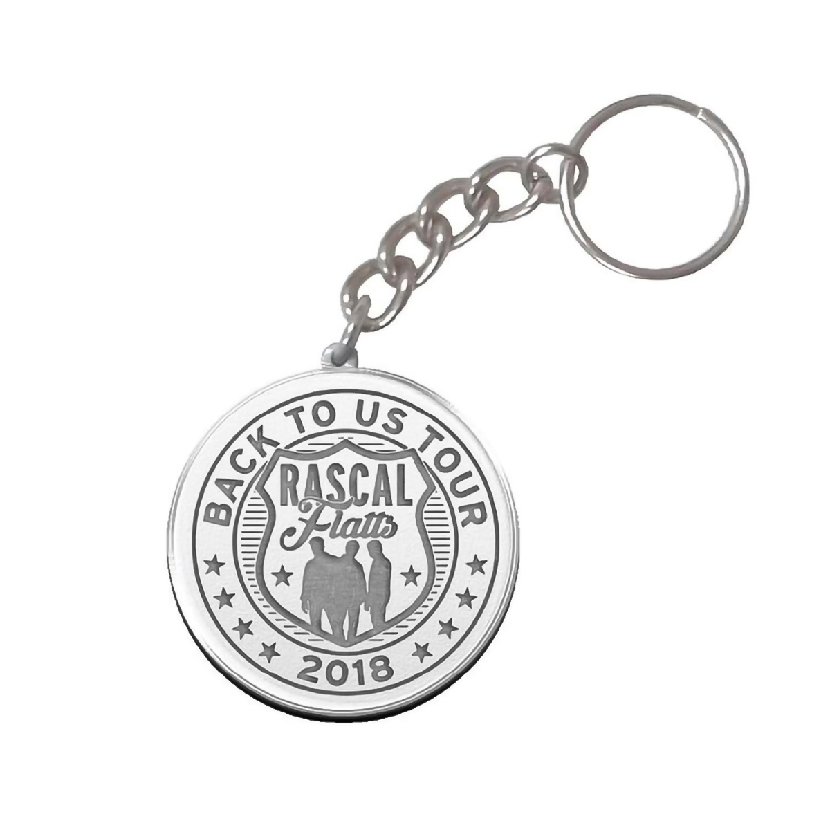 Back to Us Tour 2018 Metal Keychain