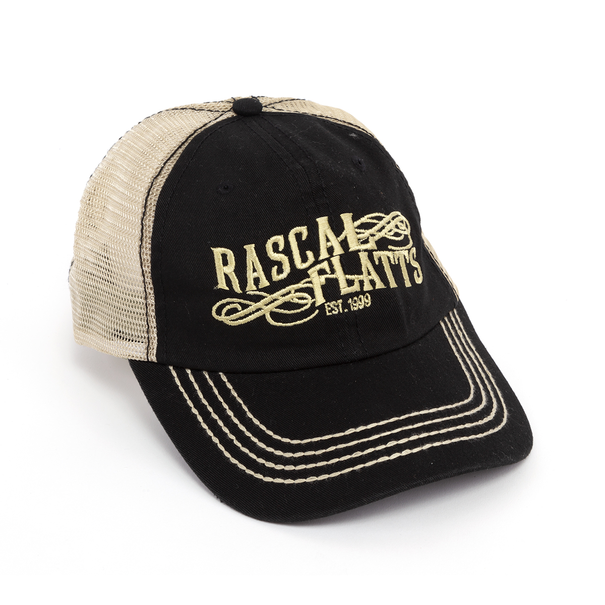 Racal Flatts Logo Black Trucker Hat